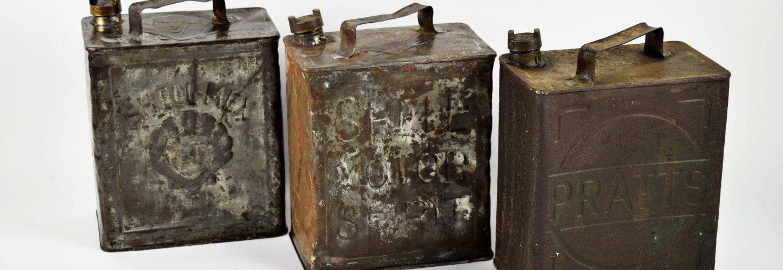 Vintage petrol jerrycans