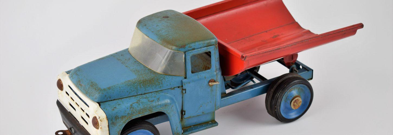 Zil-130 USSR tin toy dump truck