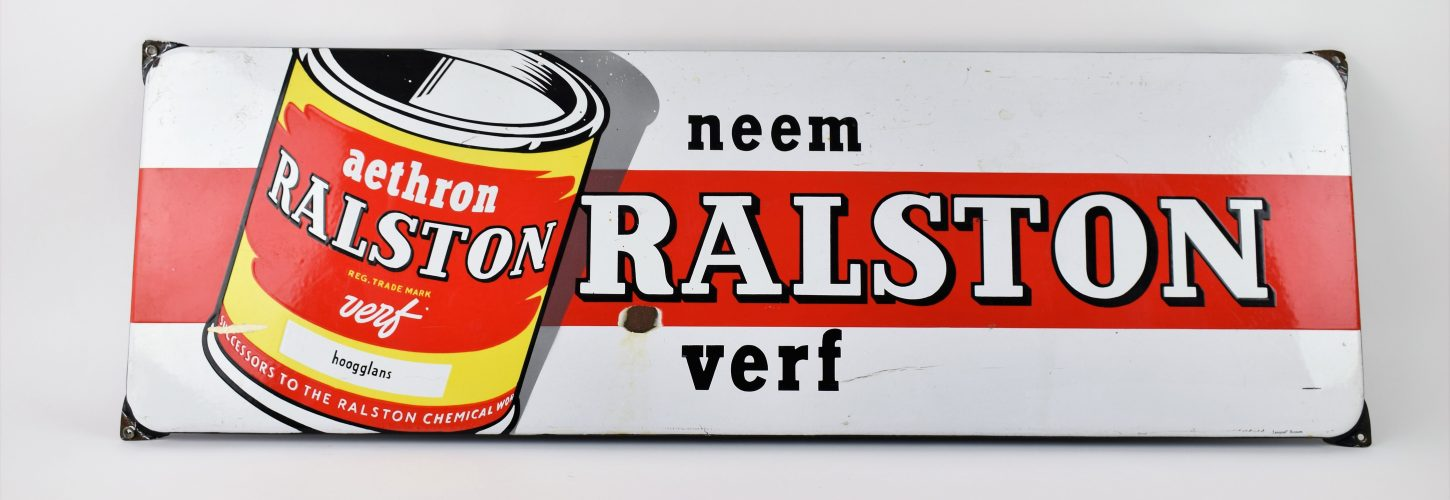 Ralston verf enamel advertising sign
