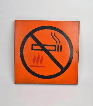 Vintage enamel warning sign