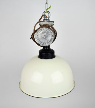 White enamel factory light