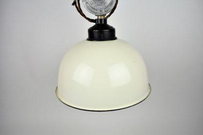 White enamel factory light