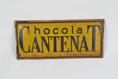 Cantenat Chocolat tin sign