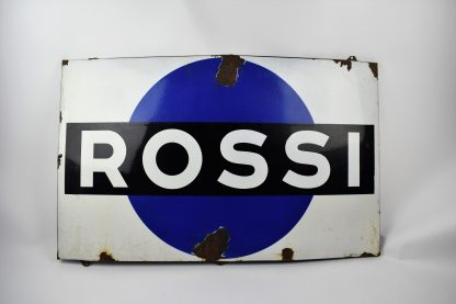 Rossi porcelain sign