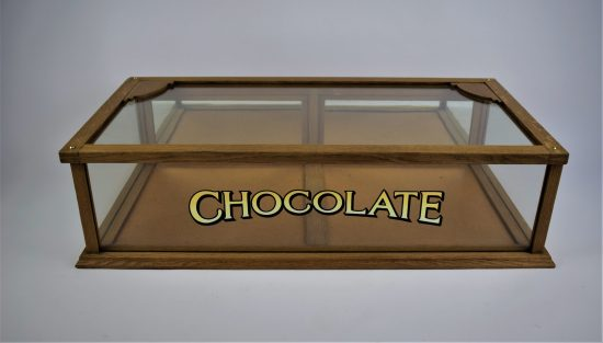 19the century oak chocolate display