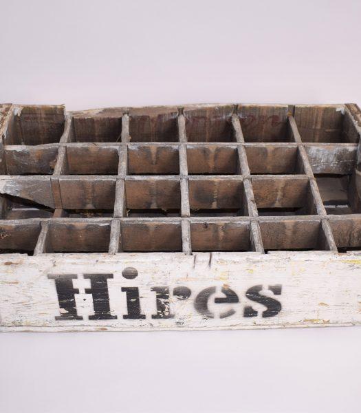 Vintage Hires soda bottle crate