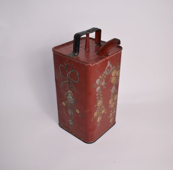 Brocante jerrycan with floral decor