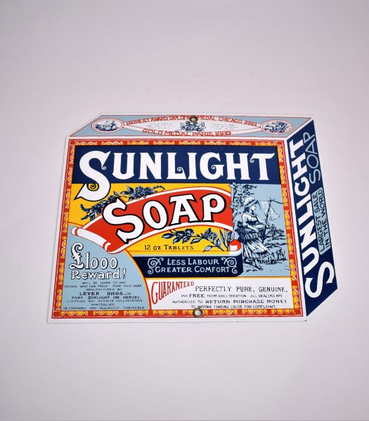 Enamel Sunlight Soap sign