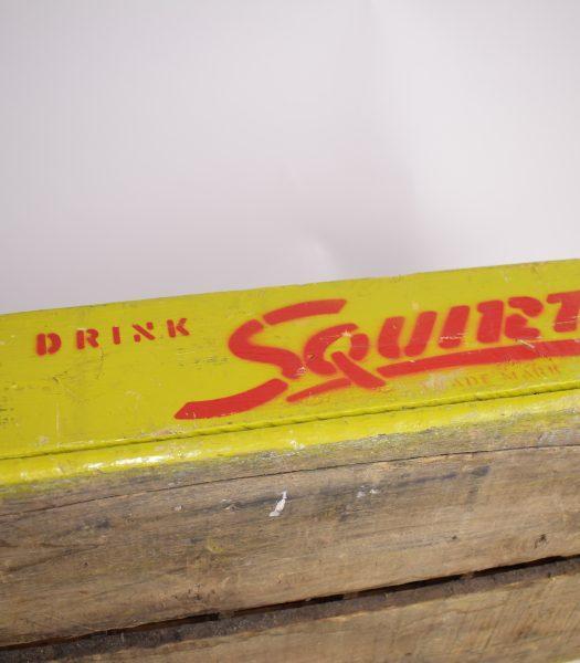 Vintage drink squirt crate