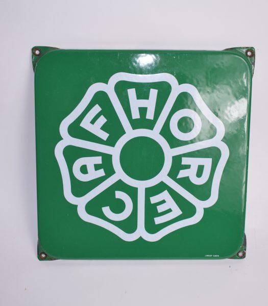 Vintage enamel HORECAG sign