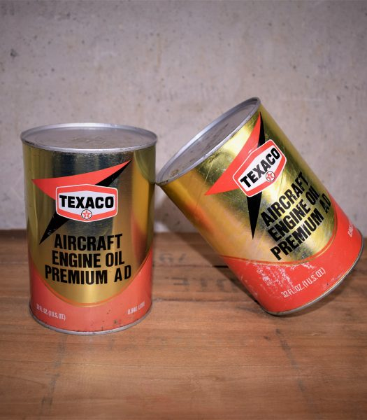 Vintage Texaco aircraft enigine oil