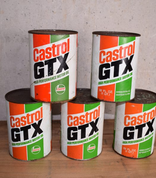 Vintage Castrol GTX motoroil can