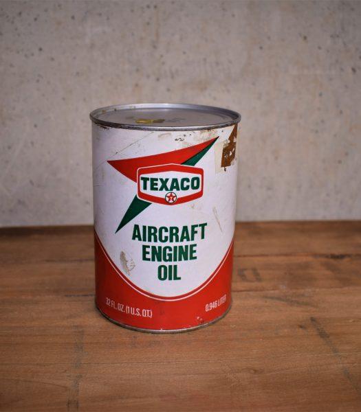 Vintage Texaco aircraft enige oil