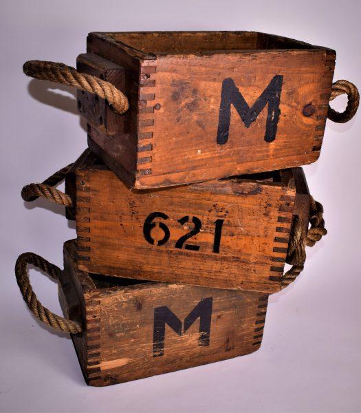 Antique gunpowder boxes