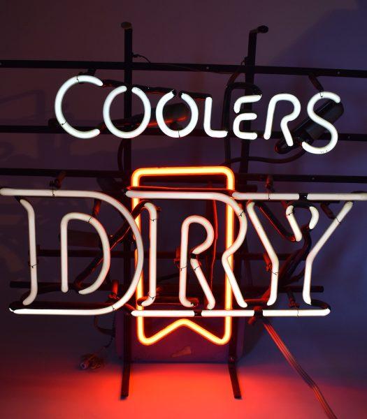 Vintage Coolers dry sign