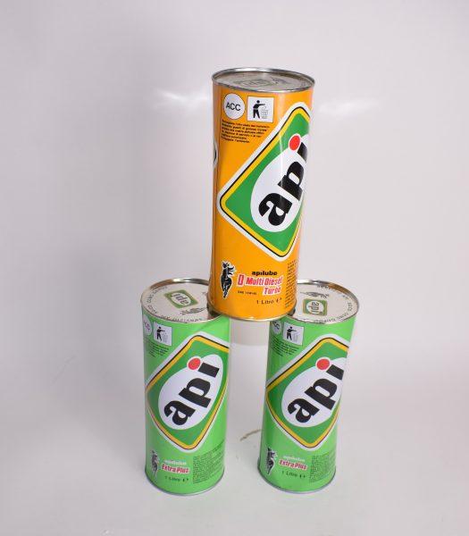 Vintage API oilcans