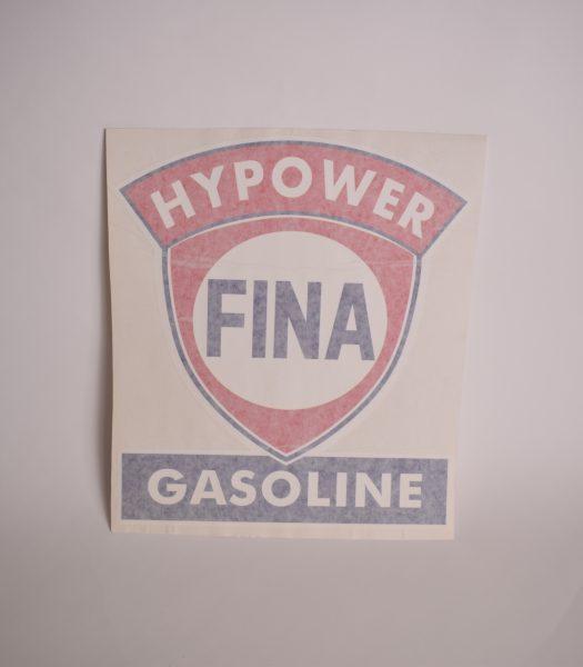 "Vintage ""Fina"" gas pump stickers"