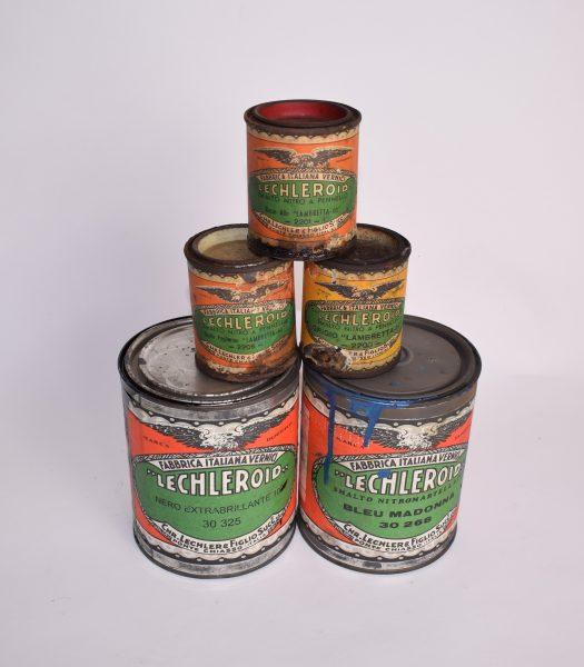 Vintage Lambretta paint cans