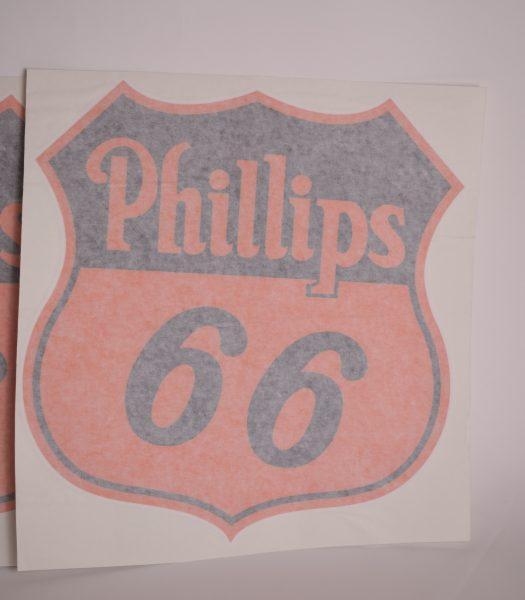 "Vintage ""Philips 66"" gas pump stickers"