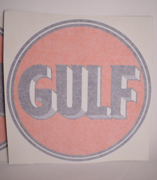 """Vintage """"Gulf"""" gas pump stickers"""