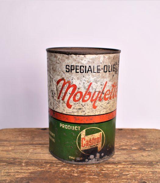 Vintage Castrol Mobylette oil can