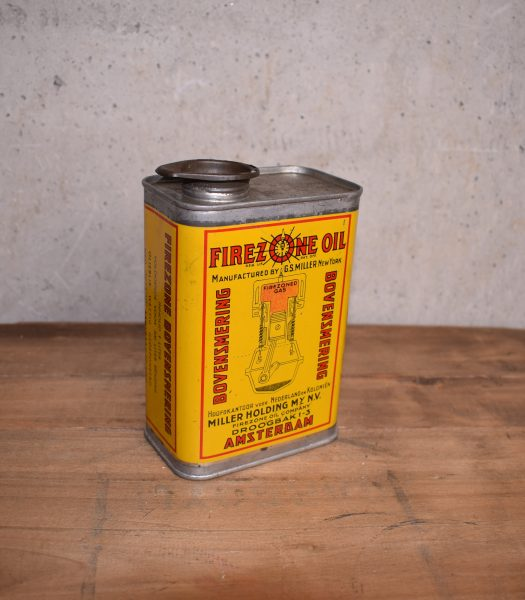 Vintage Firezone oil can