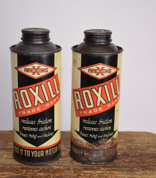 Vintage AreXons Roxill cans
