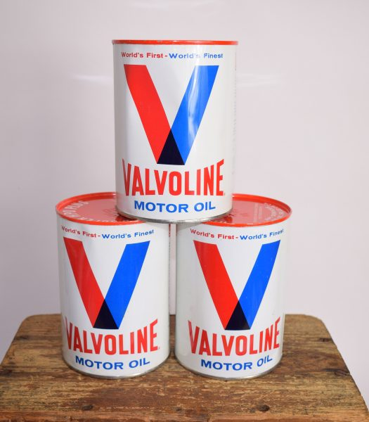 Vintage Valvoline oilcans